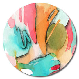 Abstract Watercolor Art
