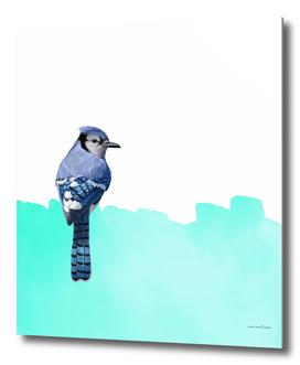 Modern Bird Blue