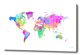 Colorful Watercolor Map