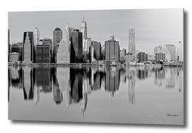 New York City at black and white