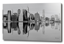 New York City at black and white