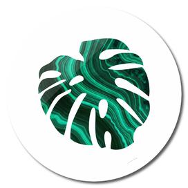 Green Marble Leaf I