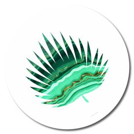 Green Marble Leaf II