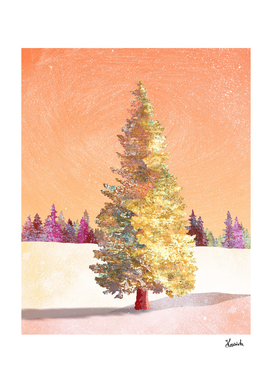 One christmas tree