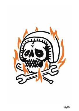 Skull Biker Fire