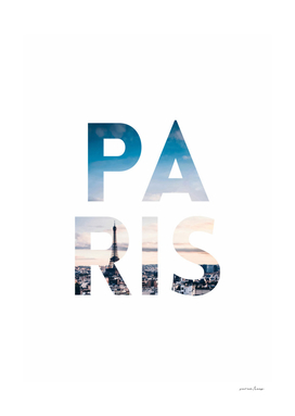 Paris Collage Letters