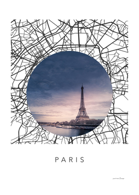 Paris Streets Collage