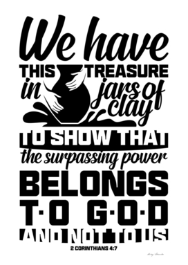 Christian print. We have this treasure in jars of clay