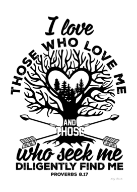 Christian print. I love those who love me