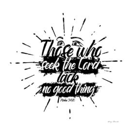 Christian print. Thise who seek the Lord