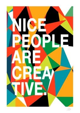 Nice People Are Creative