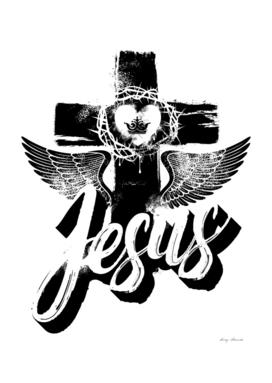 Christian print. Jesus.