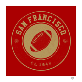 San Francisco football vintage logo red