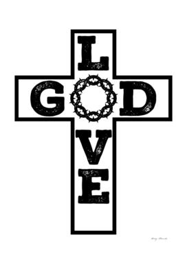 Christian print. God. Love.