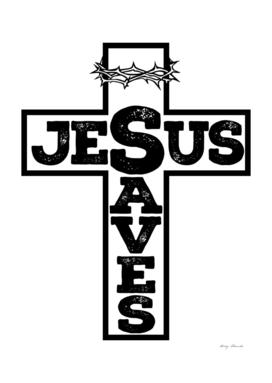 Christian print. Jesus saves.