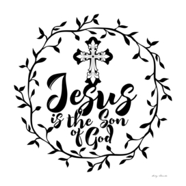 Christian print. Jesus is the Son of God.