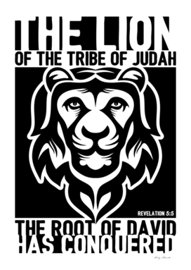 Christian print. The lion of the tribe of Judah.