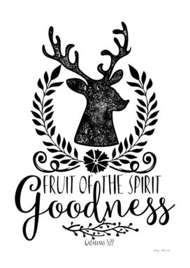 Christian print. Fruit of the spirit - Goodness.
