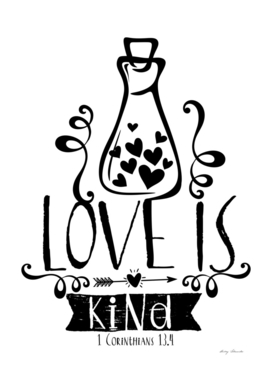 Christian print. Love is kind.