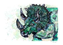 Green Triceratops Dinosaur
