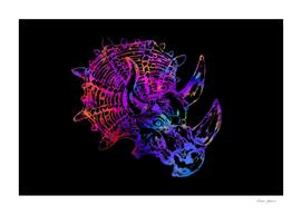 Rainbow Triceratops Dinosaur