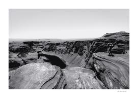 Desert at Horseshoe Bend Arizona in black and white