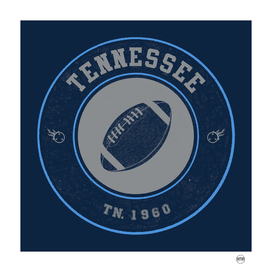 Tennessee football vintage logo navy