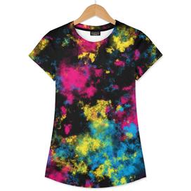CMYK Graffiti Tie Dye Clouds