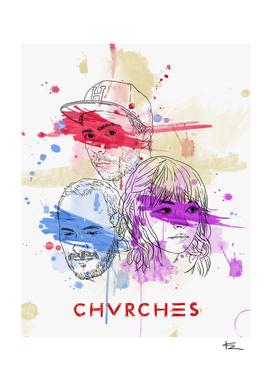 Chvrches Illustration