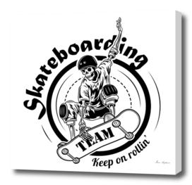 skateboarding  skeleton