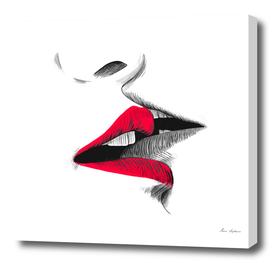 kiss sketch illustration
