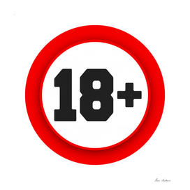 18 age sign