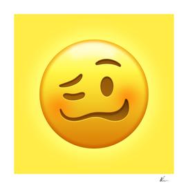 Drunk Face Emoji | Pop Art