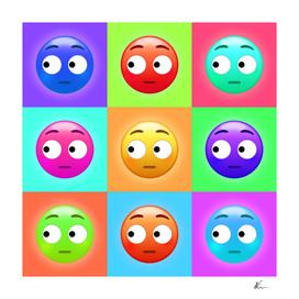 Side Eye Face Emoji   Pop Art