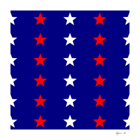 star_pattern white,blue and red