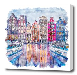 amsterdam watercolor