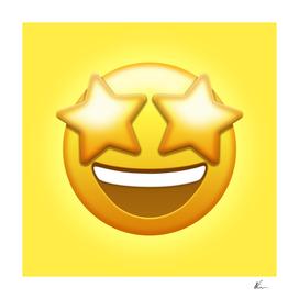 Star-Struck Emoji   Pop Art