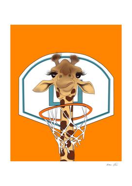 Giraffee basketball player