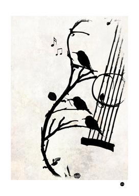 Song of Nature Music Bird Design