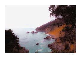 Ocean view at Big Sur, Highway 1, California, USA