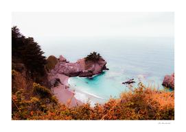 Ocean view at Mcway Falls, Big Sur, Highway 1, California