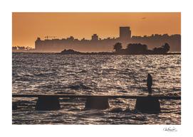 Cityscape Coastal Scene Montevideo Uruguay