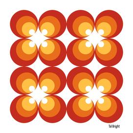 60s 70s funky retro pattern - red orange yellow