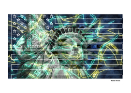Statue of Liberty colored