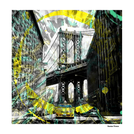 "Brooklyn-Bridge retro style 80"""