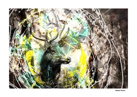 Deer Animal retro style