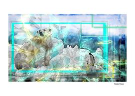 Polar Bear Animal retro style art
