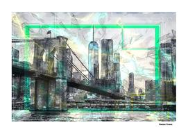 Brooklyn-Bridge retro style 80