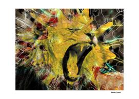 Lion Animals Wilde street art retro