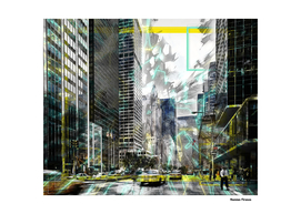New York Street Art Colored Digital Painting